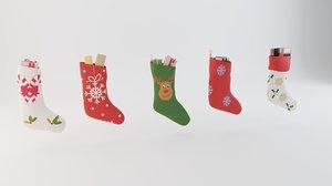 socks gift boxes christmas presents model