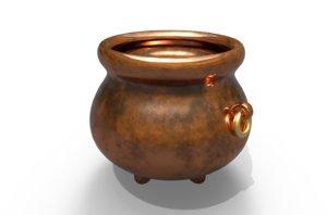 3D model witch cauldron