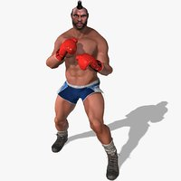 clubber lang character rigged 3D model