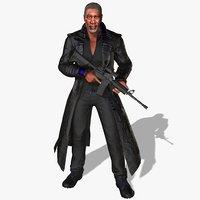 morgan character rigged animations 3D model