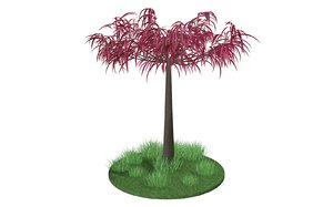 3D tree red