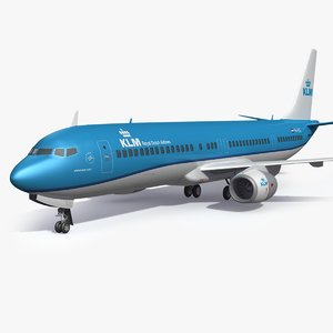 klm royal dutch aircraf 3D model