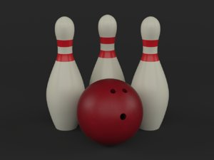 3D bowling ball pins