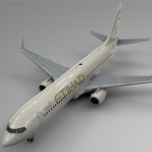 3D model etihad airways boeing 737-800