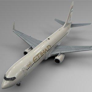 3D model etihad airways boeing 737-800