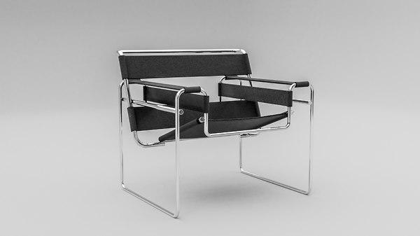 chair interior furniture bauhaus 3D model