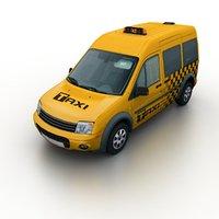 3d model taxi van