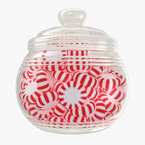 3D model realistic starlight candy jar