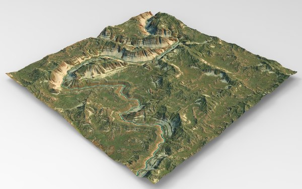 3D games terrain model