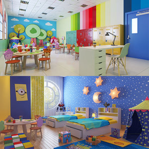 real kids interiors 3D model