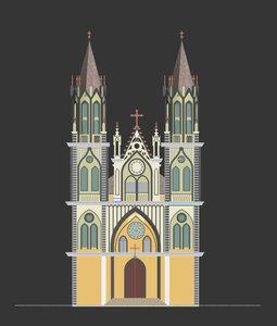 3D cathedral santa model