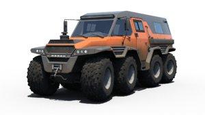 russian avtoros shaman 8x8 3D