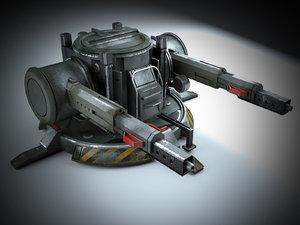 turret weapon 3D