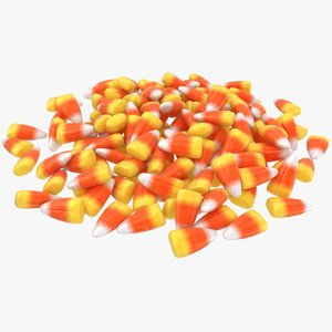 3D model realistic candy corn pile