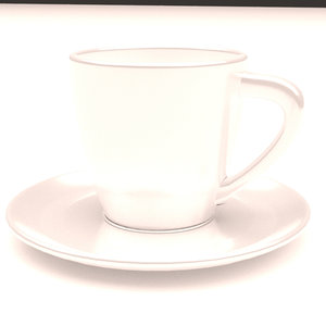 3D coffee cup model