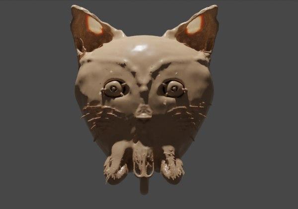 3D model cat monster