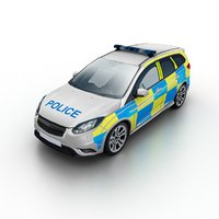 Low Poly Generic Police Wagon UK