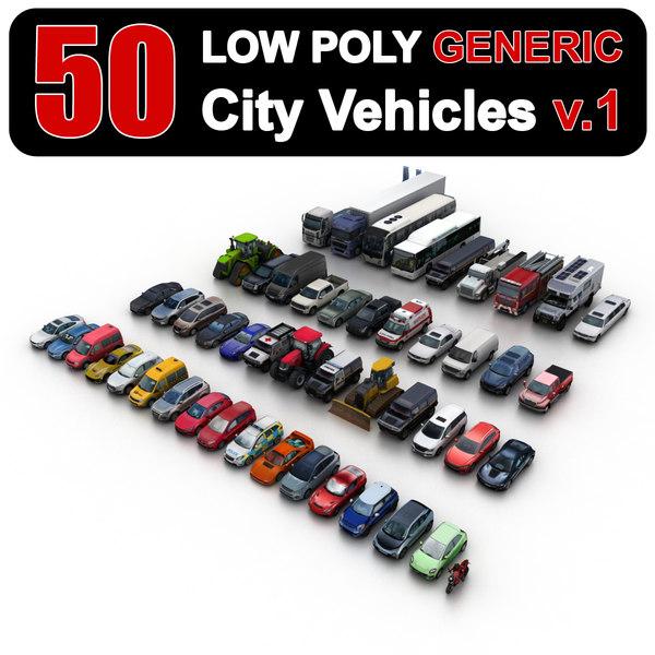 3D generic city vehicles model