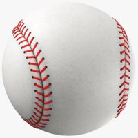 3D generic baseball ball