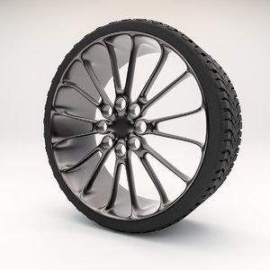 automotive wheel rim 3D model