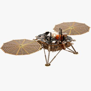 3D insight lander mars surface model