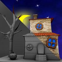 3D househalloween games