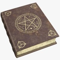 3D model old book witchcraft