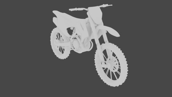 3D ktm dirtbike
