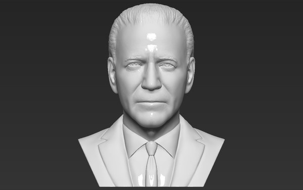 3D joe biden bust ready model