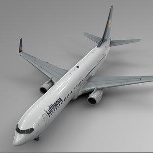 lufthansa boeing 737-800 l399 3D model