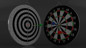 3D model double sided dart board