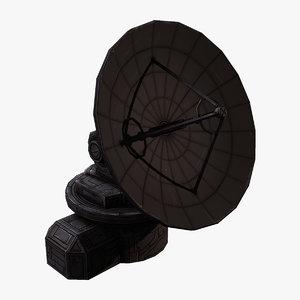 3D model radar dish