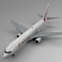 emirates boeing 737-800 l400 model