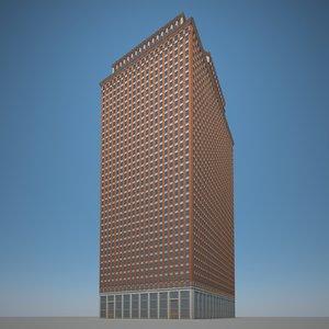 3D skyscraper brick stone