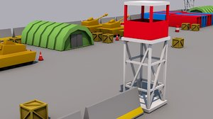 3D model military base