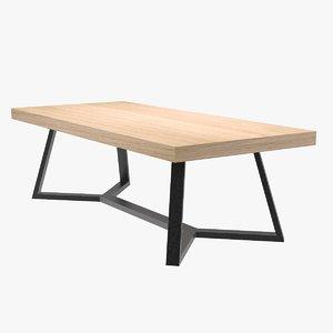 3D table arabesk design