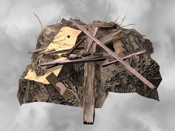 3D model woodpile