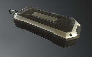 3D outdoor bluetooth speaker model