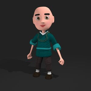 cartoon monk 3D