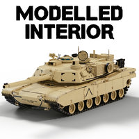 M1A2 Abrams with interior
