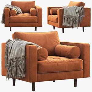 3D article sven armchair