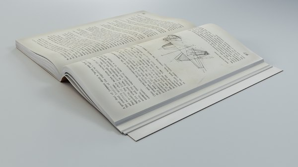 3D model open soft book