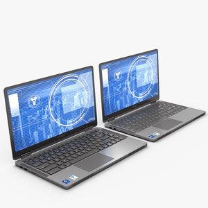 laptop lap 3D model