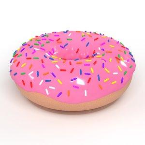 pink donut 3D