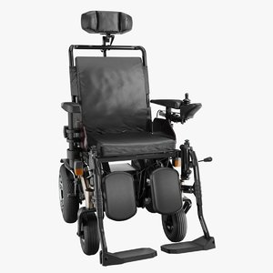 powered wheelchair 3D