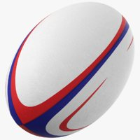 3D model generic rugby ball