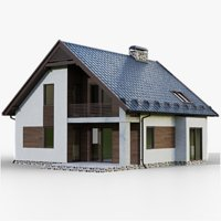 gameready house 2 type 3D model