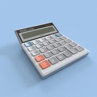 3D calculator office model
