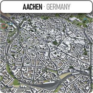 3D model aachen surrounding -