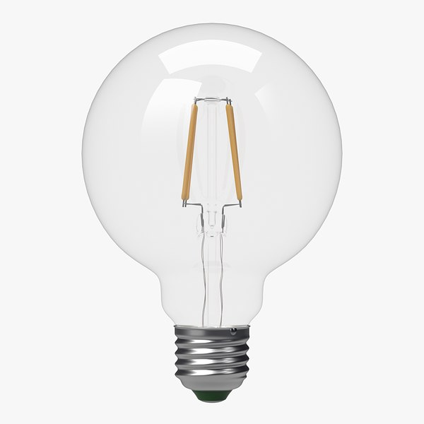 3d model led filament bulb lights